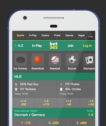 ブックメーカージャパン:bet365モバイルアプリ